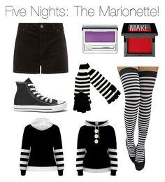 """""""Five Nights at Freddy's: The Marionette"""" by nerdybirdy1224 ❤ liked on Polyvore featuring Converse, Clinique and Make"""