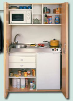 Mini kitchen in a cupboard - Bing Images