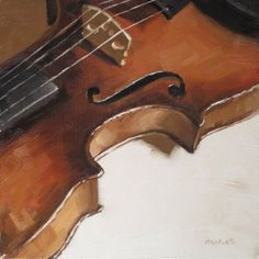 Violin Detail, painting by artist Michael Naples