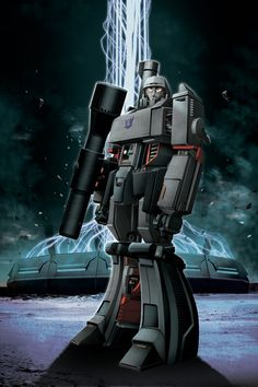 Megatron Art by Ken Christiansen Cartoon Tv Shows, Cartoon Pics, Comic Book Characters, Comic Character, Transformers Megatron, Japanese Anime Series, Art Pictures, Art Pics, The Villain