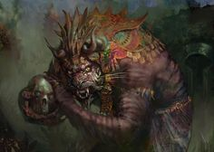 rakshasa ritualist [Rakshasa Vizier by Nils Hamm]