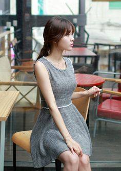 #minimal #dress #kfashion #somethinsweet #sthsweet