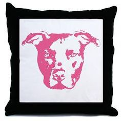 Pittie throw pillow, so cute!