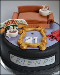 Friends TV show 21st birthday cake