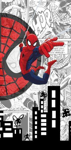 Spiderman In The City Doodle Comic iPhone 7 Flip Case Marvel Art, Marvel Avengers, Marvel Comics, Man Wallpaper, Marvel Wallpaper, Spiderman Art, Amazing Spiderman, Marvel Characters, Marvel Cinematic Universe