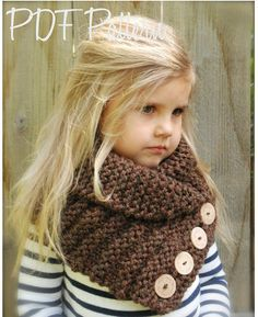 KNITTING PATTERN  Ruston Cowl Toddler Child von Thevelvetacorn