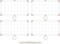 double printable pool table template pdf black & white ... valley pool table diagram