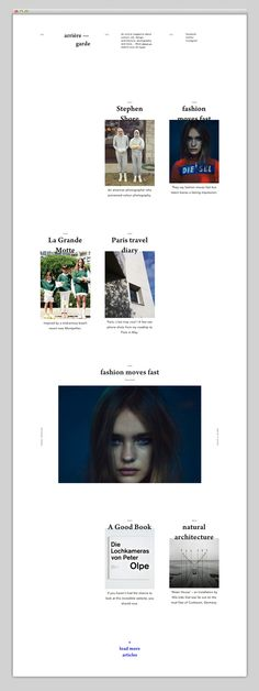 Websites / An online culture, design, contemporary and modern arts magazine - arriere-garde.com