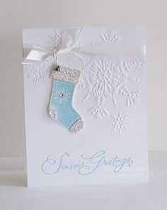 Embossed snowflakes, so pretty