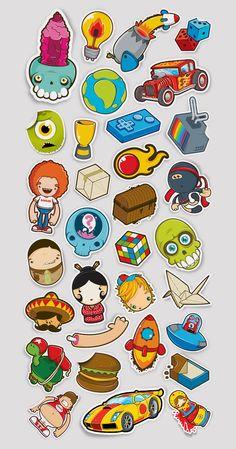 Cool Sticker Design Inspiration
