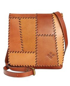 Image 1 of Patricia Nash Patchwork Granada Crossbody Leather Bags Handmade, Handmade Bags, Leather Craft, Leather Purses, Leather Handbags, Leather Wallet, Leather Totes, Tan Leather, Leather Crossbody