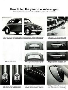 VW Beetle / Kever How to tell the year of a Volkswagen