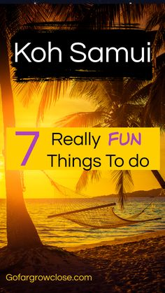 Thailand is a dream destination with many beautiful spots to choose from. Is Koh Samui the right spot for you? Here are 7 fun activities that we did and loved for a wonderful holiday. #travel #Asia #Thailand   Andaman Sea, beaches, Bophut beach, Coco Tam, fire show, fisherman's village, Koh Phangan, night market, Phuket, Samui pier resort, ATV, upni duniya, travel destinations asia, Asia travel guide, destinations in asia, South East Asia travel