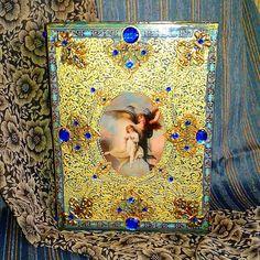 Купить Шкатулка-фолиант Ангел и дитя - золотой, фолиант, шкатулка фолиант, шкатулка для украшений