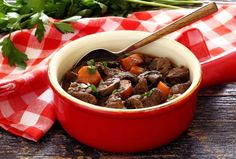 Slow Cooker Paleo Beef Stew  This stew is ideal for a wonderful, lazy Sunday meal…loaded with all kinds of yummy flavors. And it's so easy to make this classic comfort food dish – just chop the veggies, cube the meat, throw it all in the pot with the broth, wine and seasonings…and you can just set it and forget it. Gotta love that!