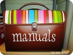 Manual storage.