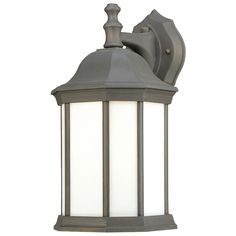 Philips Hawthorne 1-Light Painted Bronze Outdoor Wall Lantern-PL946263 - The Home Depot