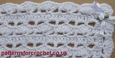 Free Shawl - Baby Blanket Free crochet pattern from http://www.patternsforcrochet.co.uk/baby-shawl-usa.html #patternsforcrochet #freecrochetpatterns