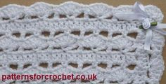 Free Shawl - Baby Blanket Free crochet pattern from http://www.patternsforcrochet.co.uk/baby-shawl-usa.html #patternsforcrochet