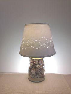 Small Seashell Lamp  Seashells  Shell Lamp  by BarbaraGailsLamps