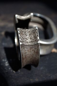 Silvered Nickel Cuff bracelets from East Timor | Early 20th century |