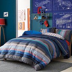 Brady Stripe Comforter- Connor's Room