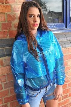 Large range of womens high fashion, designer and everyday rainwear. British manufactured high quality trenchcoats, capes, jackets overtrousers and a full range of festival clothing. Vinyl Raincoat, Blue Raincoat, Raincoat Jacket, Pvc Raincoat, Hooded Raincoat, Rain Jacket, Nylons, Rain Fashion, Leather
