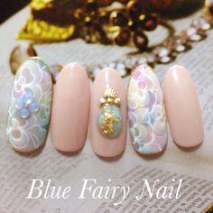 「 ウォーターマーブルジェルネイル♪ 」の画像 吹田市 千里丘 ネイルサロン Blue Fairy Nail Ameba (アメーバ)