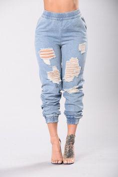 40d1a9ce6d Cadillac Girl Pant - Light Wash Korean Casual, Girls Pants, Boyfriend  Jeans, Types