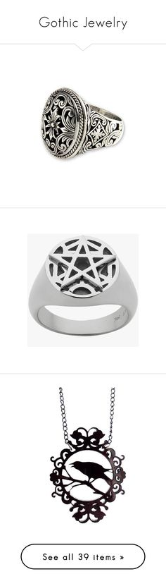 """Gothic Jewelry"" by krystal-tsuki ❤ liked on Polyvore featuring jewelry, rings, crown ring, drusy jewelry, druzy jewelry, crown jewelry, silver druzy ring, signet, sterling silver and sterling silver jewelry"