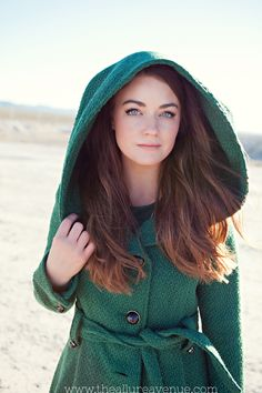 Steve Madden emerald green peacoat with hood. #fashion