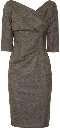 """Wool-blend Wrap-effect Dress  oozes """"MADMEN"""""""