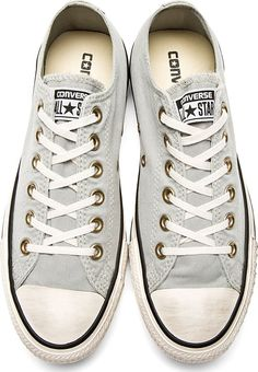 Yes, these are magnificent. I love these with the gold accent. Converse Premium Chuck Taylor: Grey Well-Worn Chuck Taylor All Star Sneakers