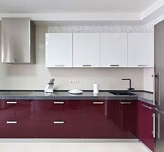 Unbelievable Tips Can Change Your Life: Galley Kitchen Remodel Bathroom kitchen remodel flooring tile.U Shaped Kitchen Remodel easy kitchen remodel home improvements.Mid Century Kitchen Remodel Home. Modern Kitchen Interiors, Modern Kitchen Cabinets, Kitchen Cabinet Colors, Kitchen Furniture, High Gloss Kitchen Cabinets, Modern Kitchens, Kitchen Colors, Furniture Stores, Office Furniture