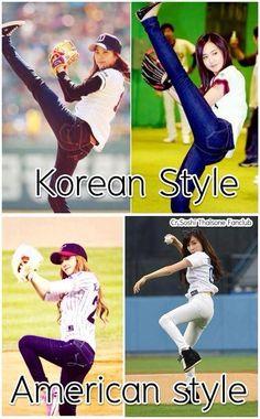 Korean Style (Seohyun & Yuri) vs. American Style (Jessica & Tiffany) ;)