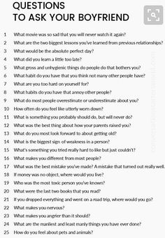 A great list of questions to ask your boyfriend! – Stacey Coles – A great list of questions to ask your boyfriend! Questions To Ask Your Boyfriend, Fun Questions To Ask, List Of Questions, This Or That Questions, Questions To Get To Know Someone, Dating Questions, Date Night Questions, Interesting Questions To Ask, Icebreaker Questions