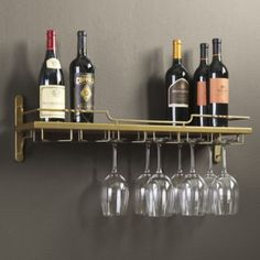 Get organized with wall shelves and more from Ballard Designs! Find floating wall shelves for decor and organization today! Wine Glass Shelf, Floating Glass Shelves, Wine Shelves, Bar Shelves, Wine Glass Rack, Metal Shelves, Wine Storage, Wine Racks, Rack Shelf