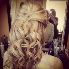 Wedding half updo