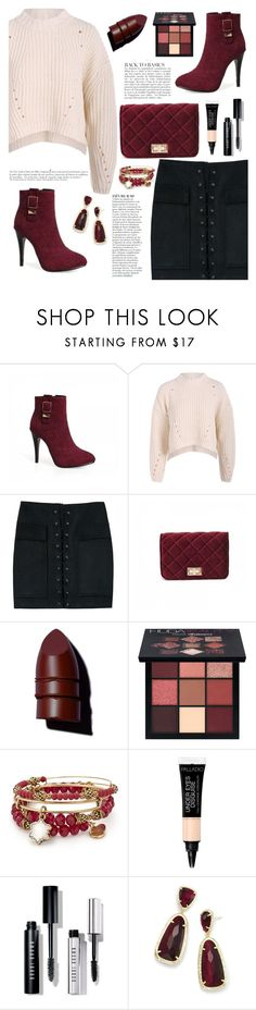 """""""fall sweater ootd"""" by teto000 ❤ liked on Polyvore featuring Anja, Anastasia Beverly Hills, Huda Beauty, Alex and Ani, Bobbi Brown Cosmetics, Kendra Scott, Winter, Boots, Sweater and ootd"""