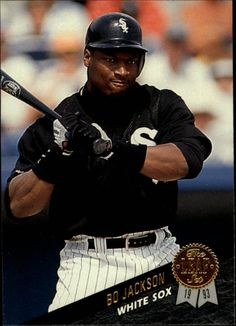 1993 Leaf Bo Jackson - Check out your favorite player cards listed in Beckett Marketplace. Baseball Guys, White Sox Baseball, Baseball Players, Baseball Cards, Chicago White Sox, Boston Red Sox, Bob Books, Bo Jackson, Sports Figures
