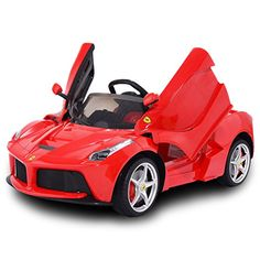 Smartsdealsnow La Ferrari Battery Operated Kids Ride On Car with MP3 and Remote Control  Red -- Click on the image for additional details.Note:It is affiliate link to Amazon. #eDevices