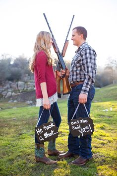 Engagement Photography - Southern California Photographer - Laura Danielle Photography- Maddy + Kolte - Country - Outdoors - Save the Date - Guns - Shotguns - Rustic