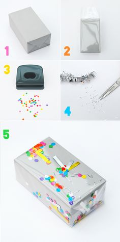 Wrapping | 26 Cute And Novel Ways To Use Confetti