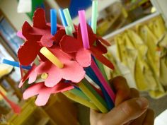 DIY Mother's Day : DIY Easy Mother's Day Straw Flowers Craft