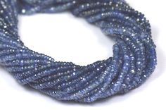 SALE 3.5 2mm to 3mm SAPPHiRE blue faceted beads by ShangrilaGems #sapphire #sapphirebeads #sapphire gemstones #shangrilagems #aaagemstonebeads