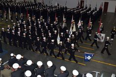 Graduation ceremonies at Recruit Training Command in Great Lakes, Ill. - my son graduated in January, 2008, in his winter crackerjack.