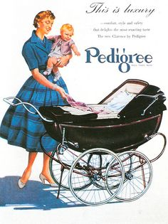 PEDIGREE PRAM ADVERTISEMENT 1955 POSTCARD | Flickr - Photo Sharing!