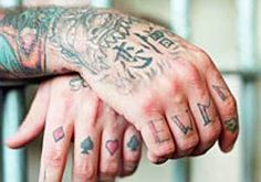 Prison Tattoos and Their Secret Meanings EWMN EWMN stands for Evil, Wicked, Mean, Nasty. This does not represent affiliation with any prison gangs, but it simply represents the general disposition of some prison inmates. Anker Tattoo, Lil Wayne, Wicked, Tribal Tattoos, Hand Tattoos, Knuckle Tattoos, Body Tattoos, Beautiful Boys, Tattoos Familie