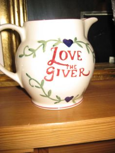 Emma Bridgewater Drink More Tea 1.5 Pint Jug made exclusively for Past Times