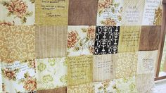 Wedding Guest Book Quilt Patchwork YOU Pick by southerncharmquilts, $165.00